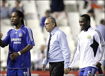 Didier Drogba, Avram Grant, Michael Essien