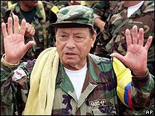 Manuel Marulanda, file photo (Feb 2001)