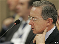 lvaro Uribe, presidente de Colombia