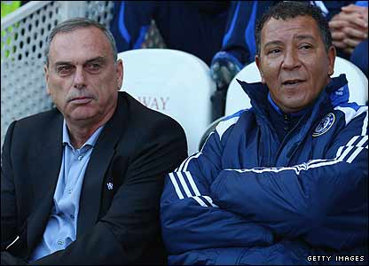 Avram Grant and Henk Ten Cate