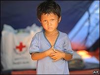Niño refugiado en Birmania, AP