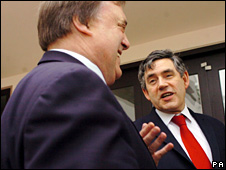 John Prescott with Gordon Brown