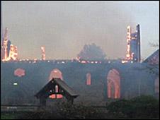 Blaze at St Nicholas' Church, Radford Semele