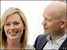 Ffion and William Hague at the Hay festival