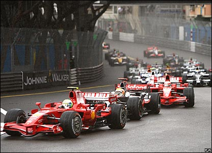 Start of the Monte Carlo Grand Prix
