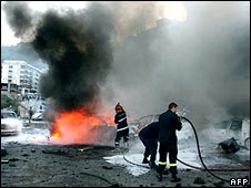 Blast in which Lebanese army Gen Francois al-Hajj died, 12 Dec 2007