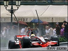 Lewis Hamilton on his way to winning the Monaco Grand Prix