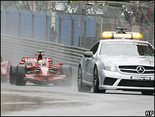 The safety car leads Felipe Massa during the Monaco Grand Prix