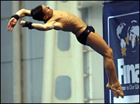 Tom Daley on his way to silver