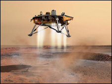 Powered landing of Phoenix (Nasa)