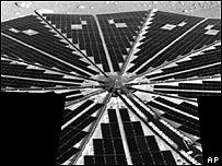 Imagen compuesta de la Sonda Phoenix despu�s de su aterrizaje en Marte, Foto: NASA, AP