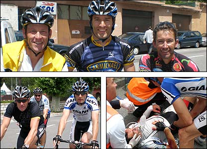 Mark Webber went cycling with Lance Armstrong and Troy Bayliss in the week leading up to the Monaco Grand Prix