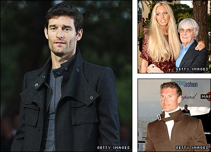 Mark Webber modelled at a fashion show for Bernie Ecclestone's daughter Petra's new collection