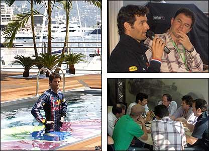 Mark Webber fuflils his PR obligations over the Monaco weekend