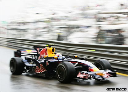 Mark Webber in his Red Bull during the Monaco Grand Prix