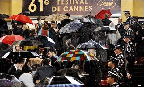 rain at Cannes
