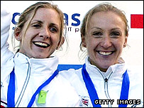 Liz Yelling (left) and Paula Radcliffe