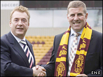 Motherwell owner John Boyle and manager Mark McGhee