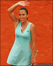 Jankovic needed more than an hour to win the first set