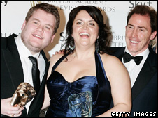 James Corden, Ruth Jones and Rob Brydon