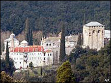 One of the 20 monasteries on Mount Athos