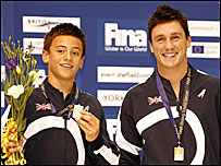 Tom Daley and Blake Aldridge