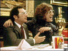 Sydney Pollack and Dustin Hoffman in Tootsie