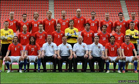 The Czech Republic squad