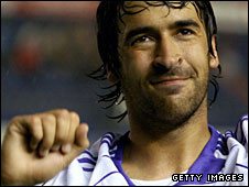 Real Madrid striker Raul has been left out of the squad