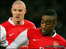 Martin Djourou (right) and Philippe Senderos