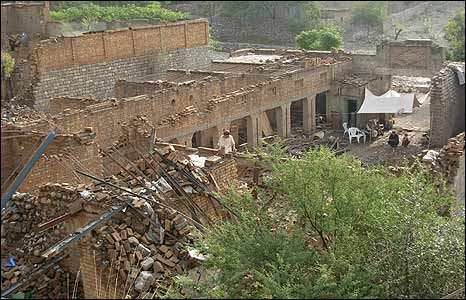 Village destroyed by the Pakistani air force