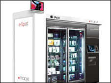 Macy's e-Spot vending machine