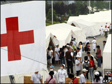 German Red Cross field hospital for earthquake victims, Doujiangyan, China, May 26 2008