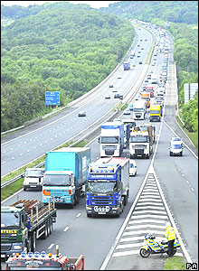 Queues near Bridgend