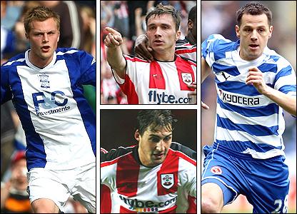 Clockwise from left: Sebastian Larsson, Marek Saganowski, Marek Matejovsky, Rudi Skacel