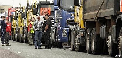Fuel protestors