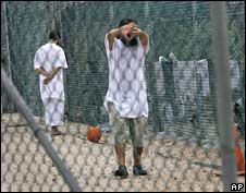 Detainees at Guantanamo Bay. Photo: May 2008