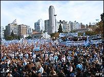 Protesta en Rosario.
