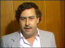 File photo of Colombian drug lord Pablo Escobar who was killed in 1993