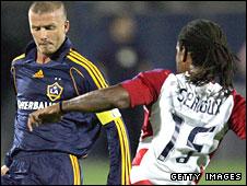 David Beckham and Adrian Serioux