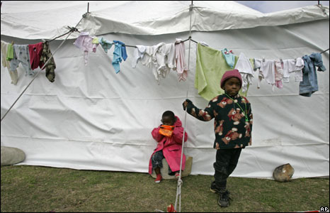 Children from Congo at a camp near Scarborough, South Africa, 27 May 2008