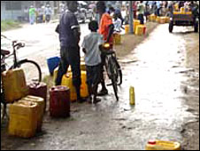 People selling water in Zanzibar