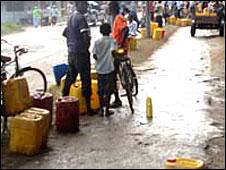 People selling water in Zanzibar