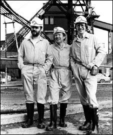 John Peel, Johnny Beerling and Simon Bates in 1979
