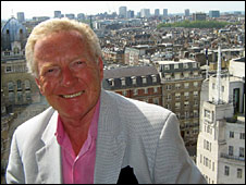 Johnny Beerling, overlooking the BBC's Broadcasting House