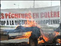 Protesta por el aumento del diesel en Francia