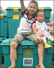 Children affected by the earthquake in China: Pic ShelterBox