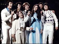 The Osmond family in 1974