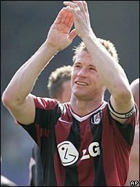 Fulham captain Brian McBride