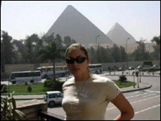 Laura Mockiene photographed in Egypt
